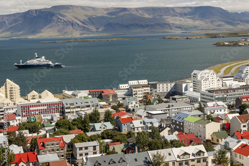Fotografia, Obraz  Aerial view on City of Reykjavik - Iceland.