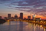 Fototapeta Nowy Jork - Rochester NY skyline at dawn