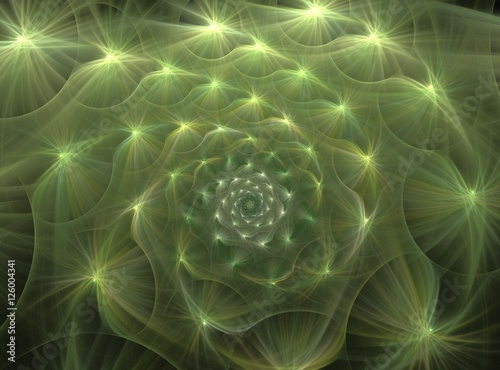 Fototapety, obrazy: abstract fluffy fractal computer generated image