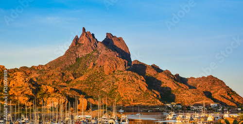 Aluminium Prints Blue Mount Tetakawi, Iconic Landmark of San Carlos, Mexico