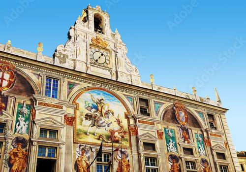 Fotografia  Façade du palais San Giorgio à Gênes