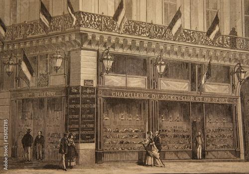 Chapellerie du Jockey-club et du sport - Hippolyte de Henne - 11 boulevard des c Fototapete