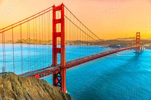 Foto-Flächenvorhang - Golden Gate, San Francisco, California, USA. (von Luciano Mortula-LGM)