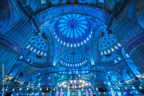The Blue Mosque, (Sultanahmet Camii), Istanbul, Turkey. Canvas Print