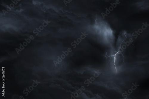 Plakat Dark Sky Błyskawica Storm