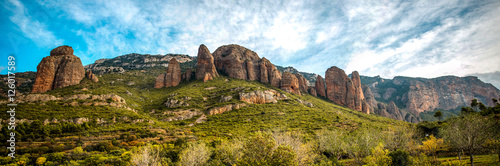 "Landscape ""Mallos de Riglos"" in Huesca, Spain. Instead of climbing famous throughout Europe."