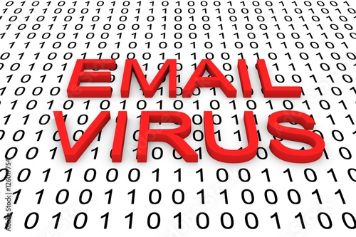 Email Virus In A Binary Code 3d Illustration Buy This Stock