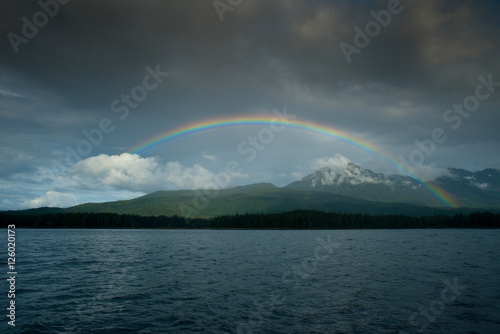Photo  Rainbow, Glass Peninsula, Alaska