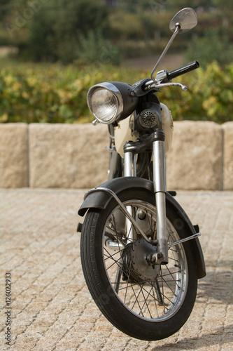 Fotobehang Fiets Moto vintage
