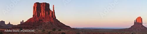 Foto auf AluDibond Schokobraun Monument Valley
