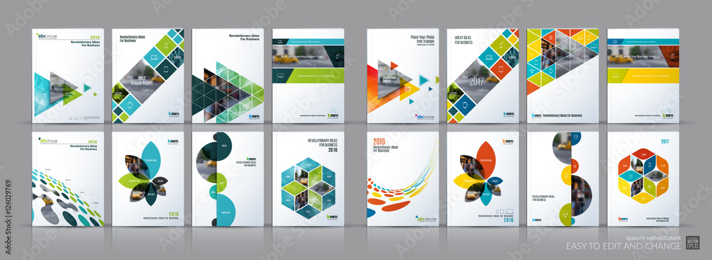 Fototapeta Business vector mega set. Brochure template layout, cover design