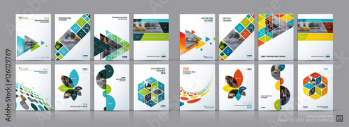Photo Business vector mega set. Brochure template layout, cover design