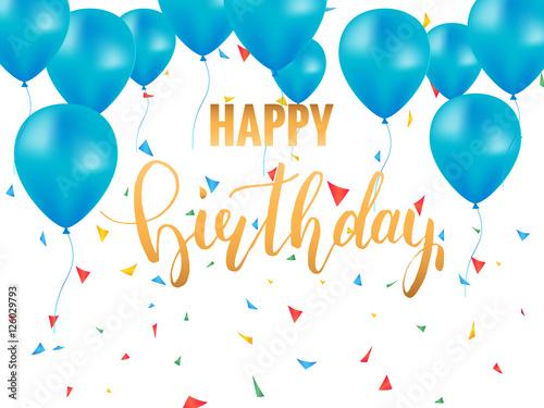 Photo  Happy Birthday card template