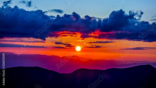 mount mimtchell sunset landscape in summer #126031304