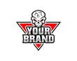 Skull logo, skull illustration, vector of skeleton.