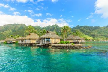 Beautiful sea and Moorae Island at Tahiti , PAPEETE, FRENCH POLY