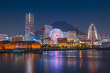 Yokohama City Skyline Over The...