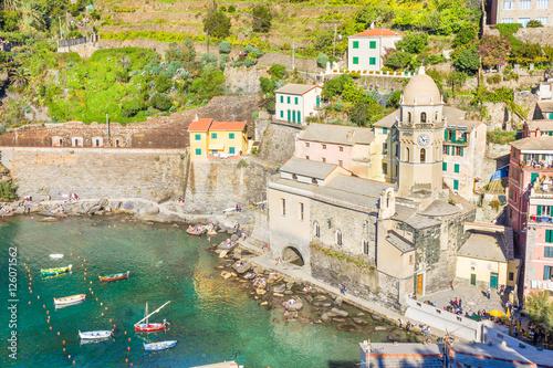 Fotobehang Liguria Vernazza in Cinque Terre, Italy