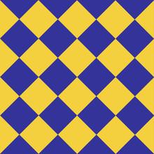 Yellow Blue Retro Chess Board ...