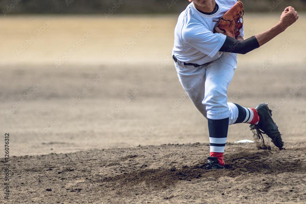 Fototapety, obrazy: 高校野球試合風景