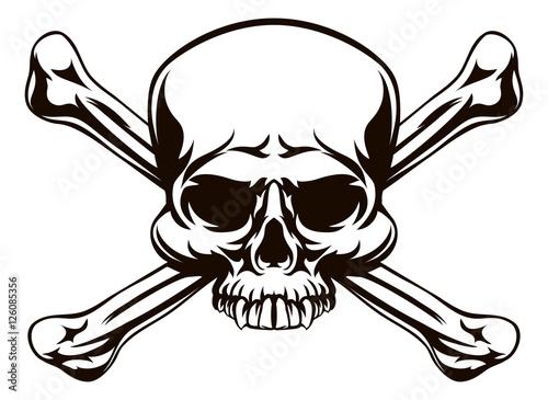 Photo Skull and Cross Bones Sign