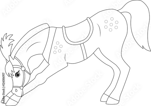 - Circus Horse Pony, Coloring Page - Buy This Stock Vector And Explore  Similar Vectors At Adobe Stock Adobe Stock