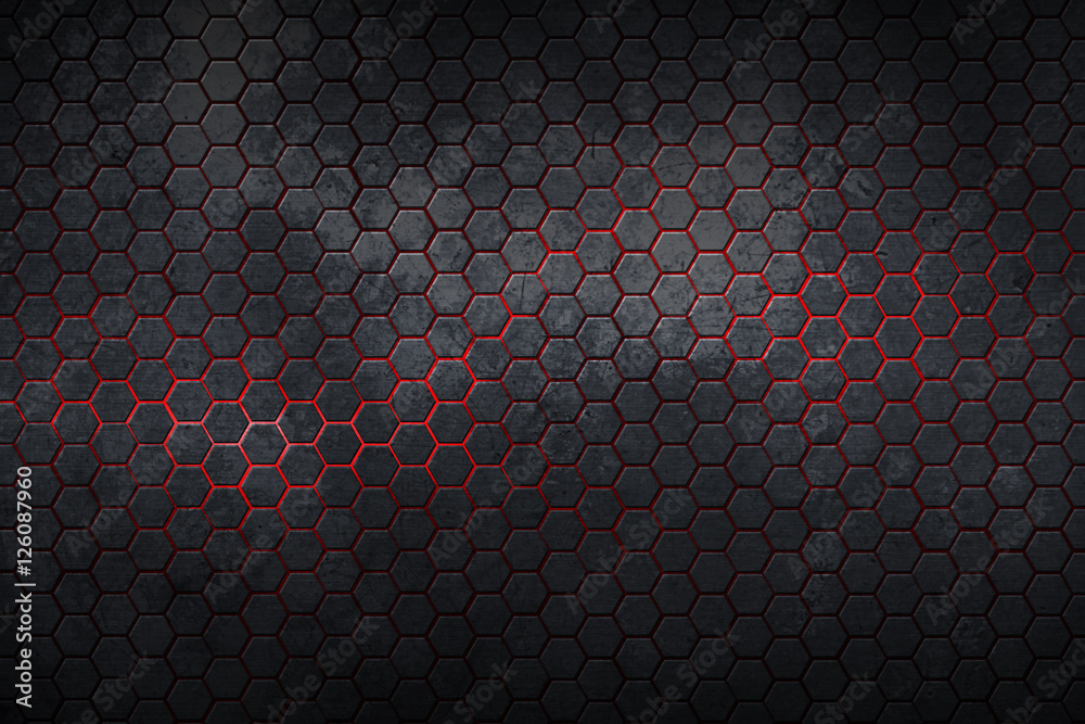 Fototapety, obrazy: hexagon background and texture.