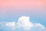 streszczenie miękkie niebo chmura z gradientem pastelowy kolor vintage do użytku w tle - 126089160