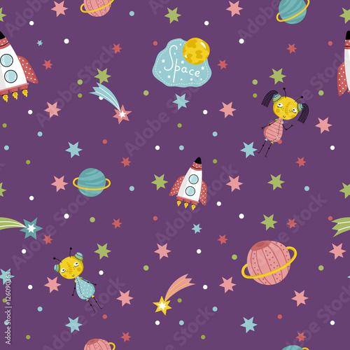 przestrzen-miedzygwiezdna-podrozuje-kreskowka-bezszwowy-wzor-latajacy-statek-kosmiczny-slodkie-kosmitki-z-warkoczykami-kolorowe