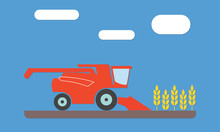 Combine Harvester Icon In The ...