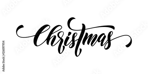 Christmas Calligraphy.Christmas Calligraphy Lettering Vector Buy This Stock