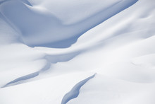 Beautiful Snow Covered Hill Detail, Winter Landscape