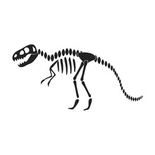 Tyrannosaurus Rex Icon In Blac...