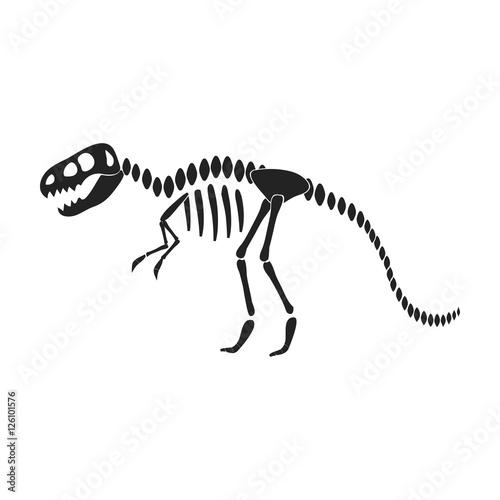 Photo Tyrannosaurus rex icon in black style isolated on white background