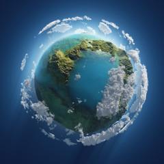 mała Ziemia w kosmosie