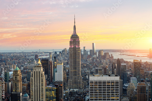 Staande foto New York Skyline of New york with Empire state building