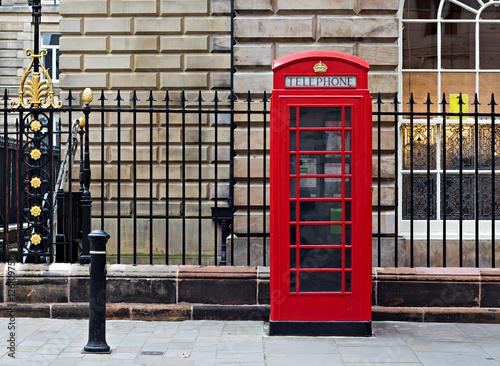 Fotografie, Tablou  Classic single British red phone box