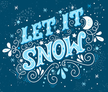 Let It Snow. Christmas Retro P...