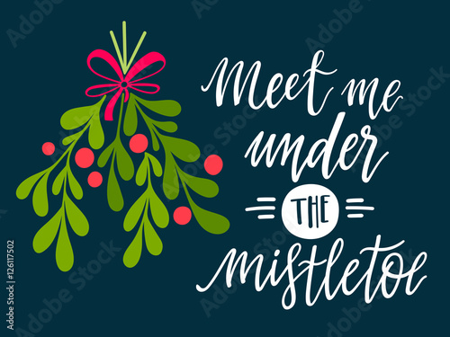 Fotografie, Obraz  Meet me under the mistletoe