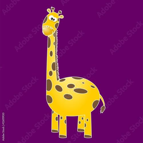Poster de jardin Zoo Giraffa buffa