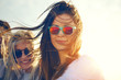canvas print picture - Two gorgeous trendy young women