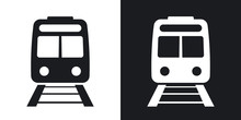 Vector Train Icon. Two-tone Ve...