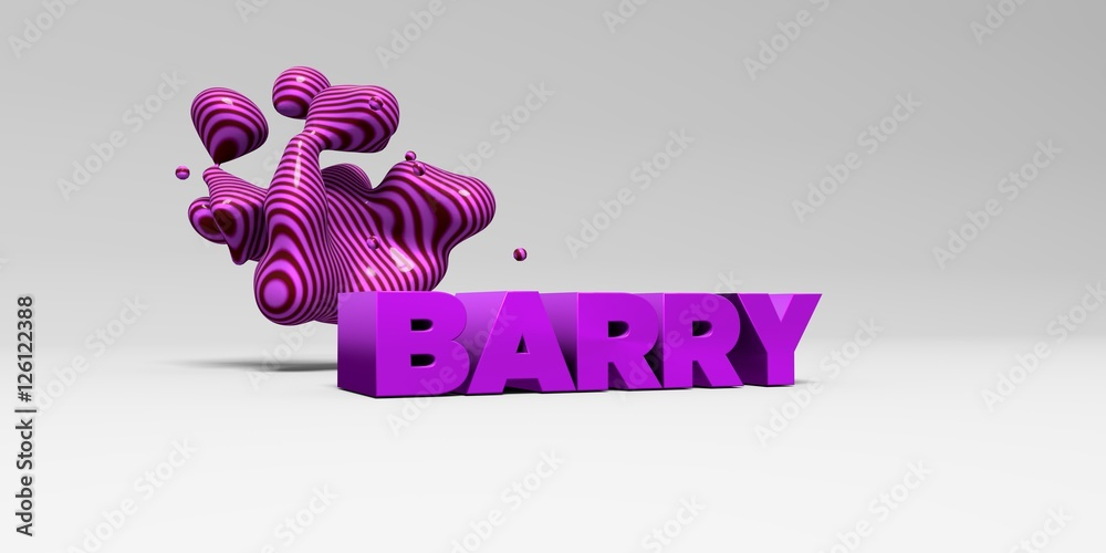 Fotografía BARRY - color type on white studiobackground with design ...