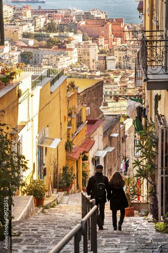 Deurstickers Napels Discesa Petraio in Naples.
