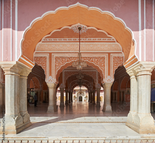 Foto op Aluminium Kuala Lumpur Mubarak Mahal in Jaipur City Palace, Rajasthan, India.