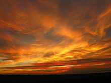 Fenland Sunset Firey Sky