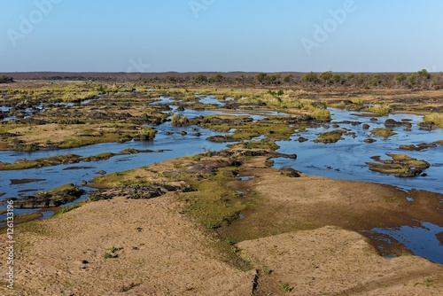 Foto op Canvas Olifant Kruger Nat. Park - Olifants Fluss
