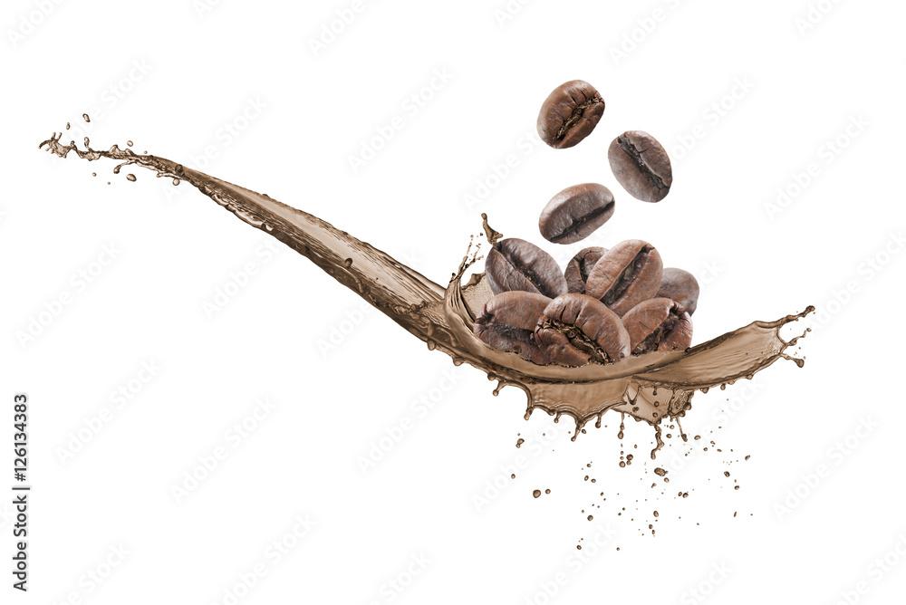 Fototapeta wave coffee splashing