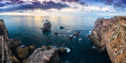 Deurstickers Kust Panorama atlantic ocean rocky coastline near Arrifana. Vicentina Coast Natural Park. Algarve region. Portugal