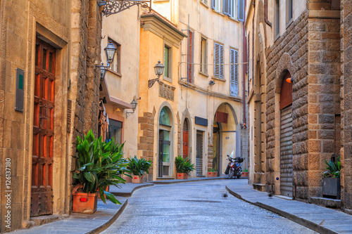 Canvas Prints Narrow alley Charming narrow streets of Florence town